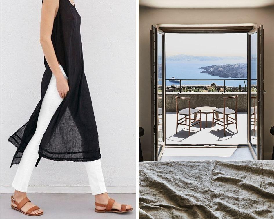 Lrft: Graham and Spencer/ Right: Vora Villas Santorini by K Studio
