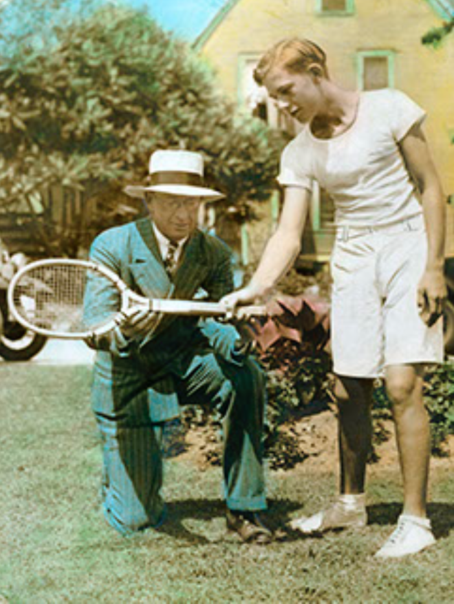 Frankie Parker Jr. - Mercer Beasley and Frankie Parker Jr. at a tournament at Washington Park. Click here for the full story of Frankie Parker Jr.