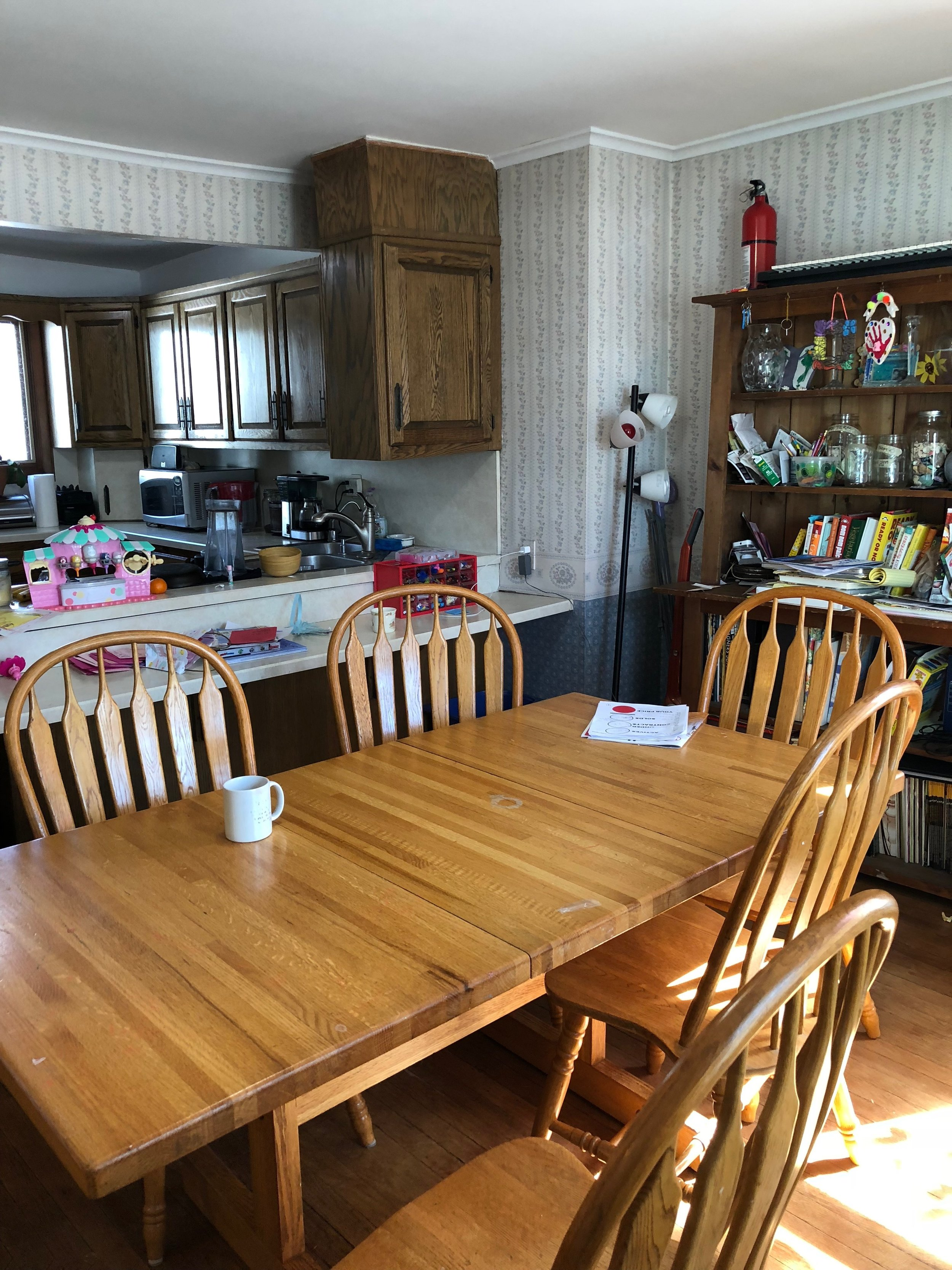 bEFORE, KITCHEN/DINING ROOM