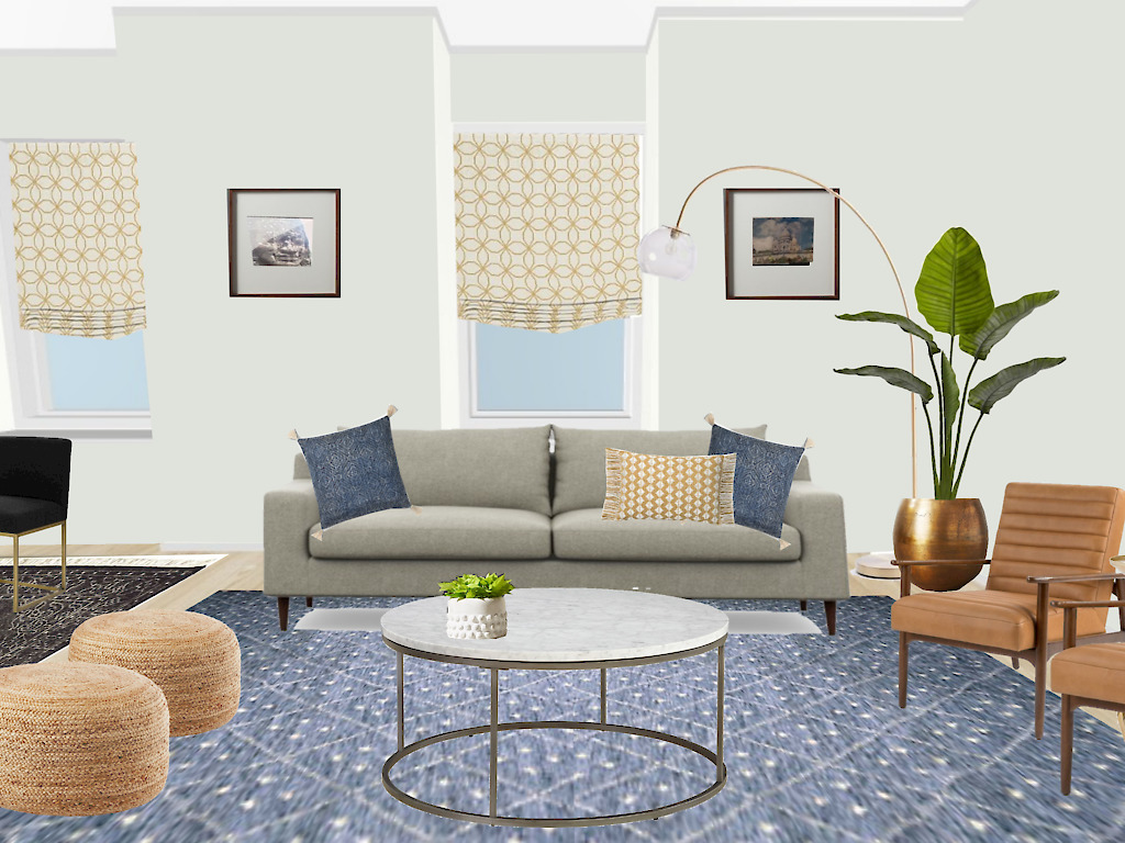 3D Virtual rendering for an e-design client by Noel Gatts at beam&bloom interiors