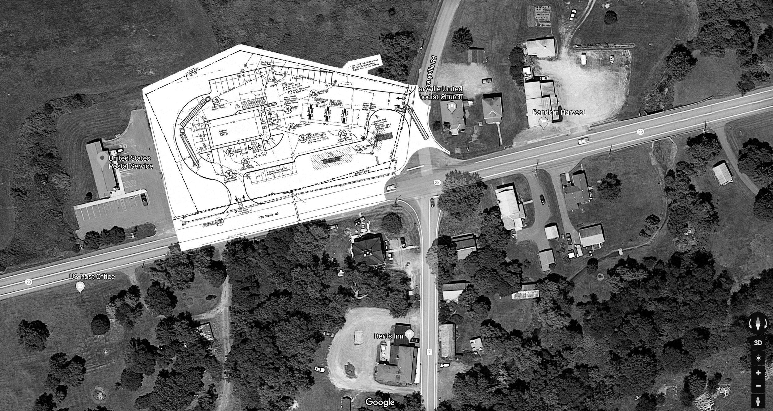 Save Craryville overlays site plan on aerial map