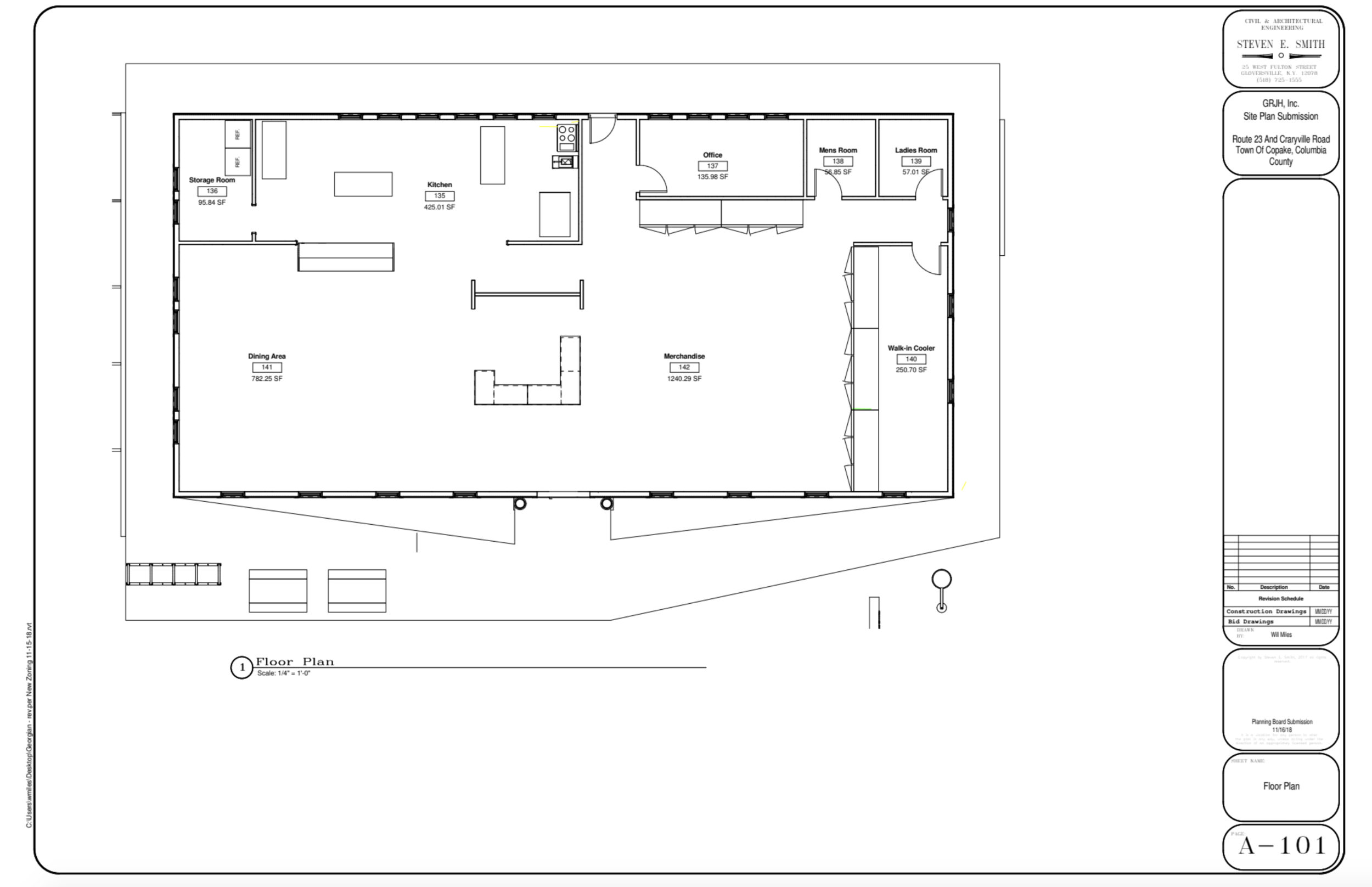 Concept Floor Plan submitted October 10, 2018