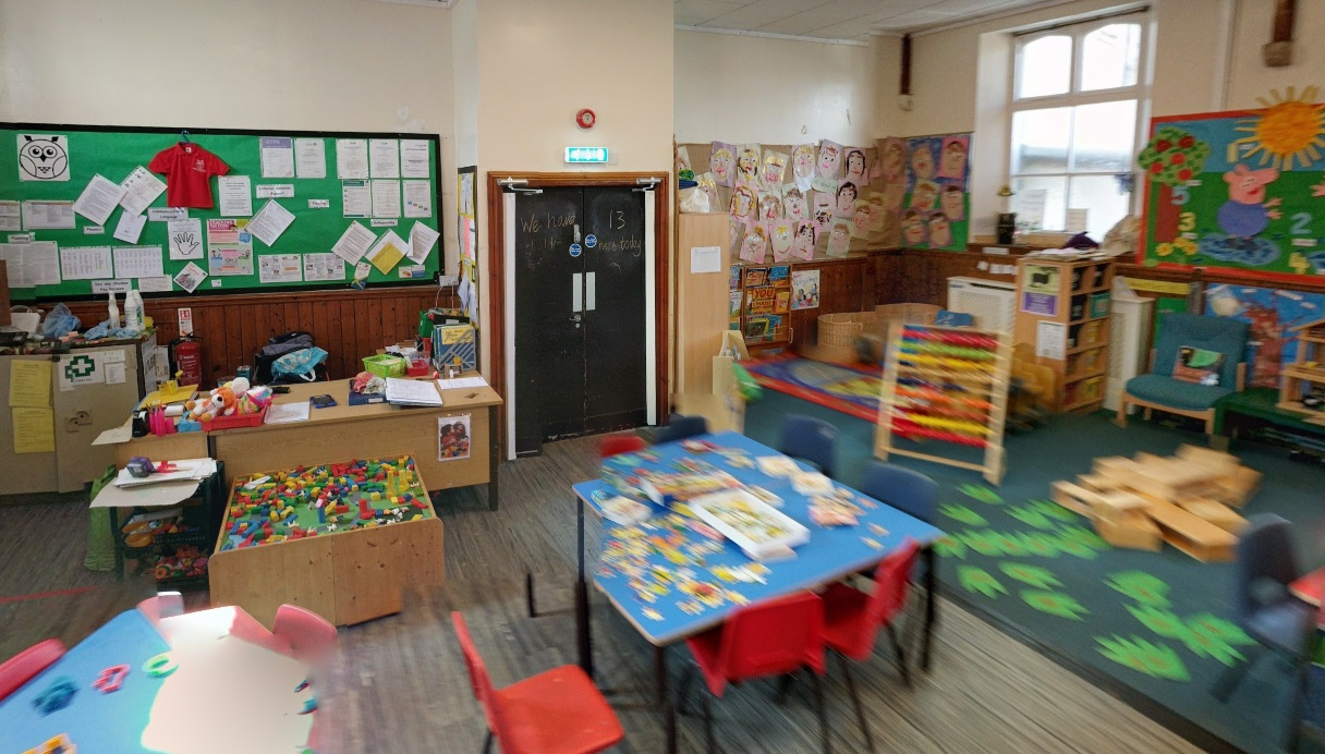 It offers many exciting areas for children to explore.
