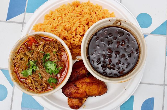 Ropa Vieja (n): a Cuban dish of shredded beef stewed in a tomato-based sauce. It's also exactly what you should be ordering for lunch today! Enjoy our ropa vieja with a side of black beans, plantains and yellow rice.