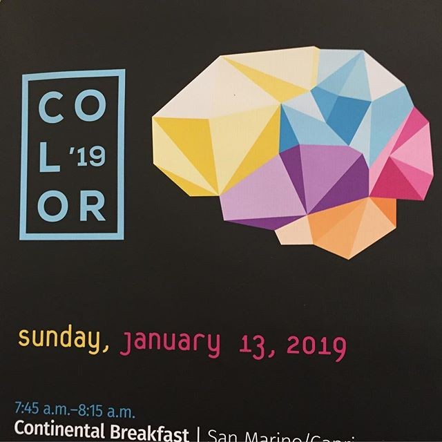 Kicking off #color19 this morning. I enjoyed the the pre-conference presentation yesterday... excited to see what I'll discover today through Tuesday!
