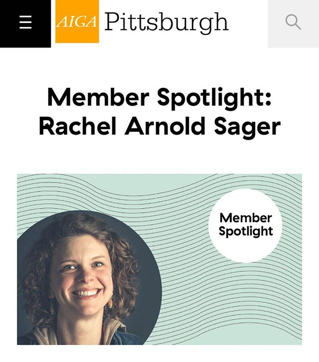 Excited to be this month's Member Spotlight over at @aigapittsburgh's blog! I don't talk much about myself (or my projects, I should be better about that!), but I answered some questions about myself and my business - with a little advice on the side. #design #illustration #designstudio #smallbusiness