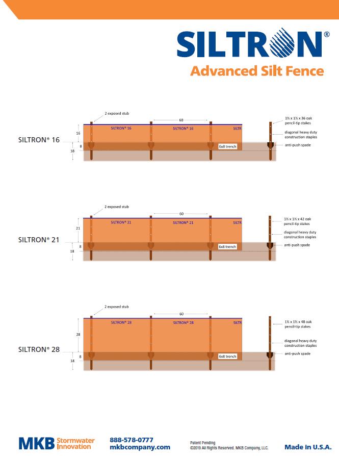 Siltron Advanced Silt Fence Technical Sheet (PDF)