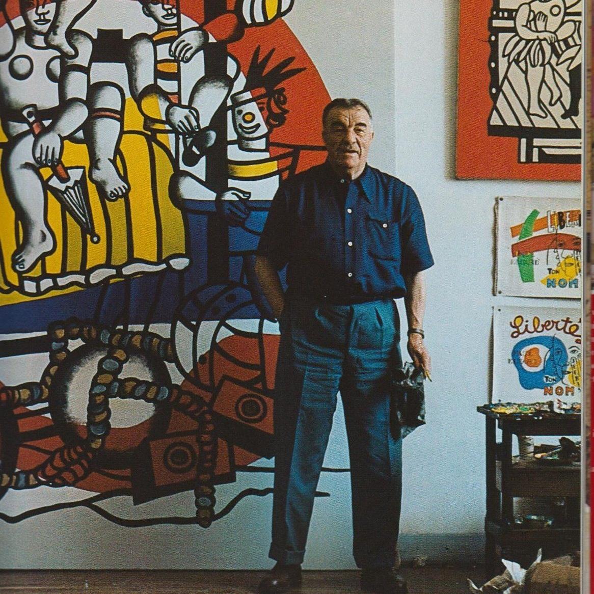 Fernand Léger in his studio
