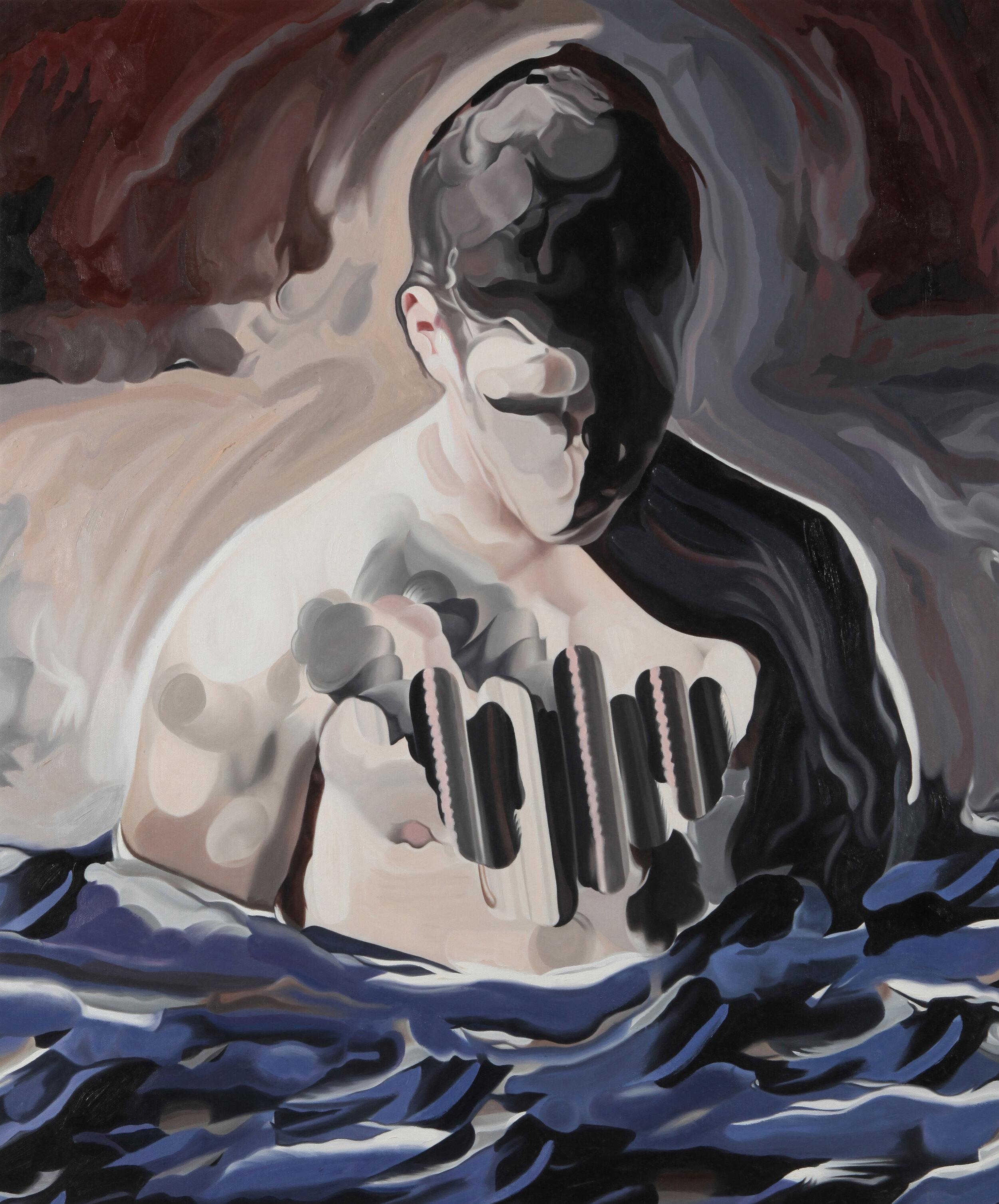 Facebook Generation , 2016, oil on canvas