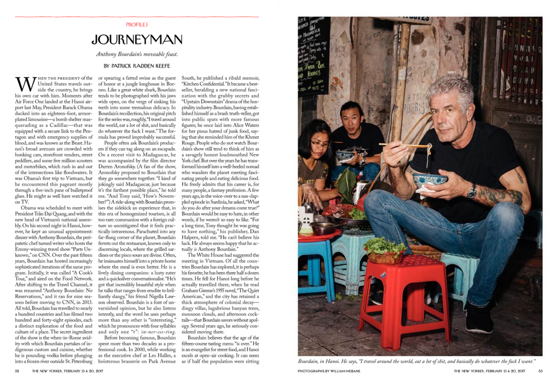 """Journeyman,"" The New Yorker, February 13 & 20, 2017"