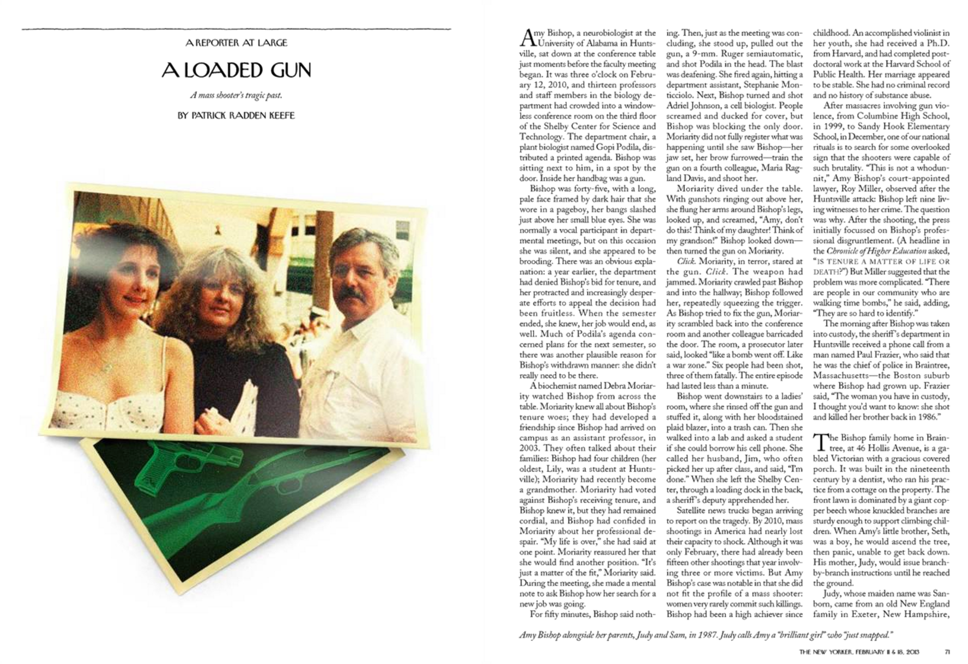 """""""A Loaded Gun,"""" The New Yorker, February 11 & 18, 2013"""