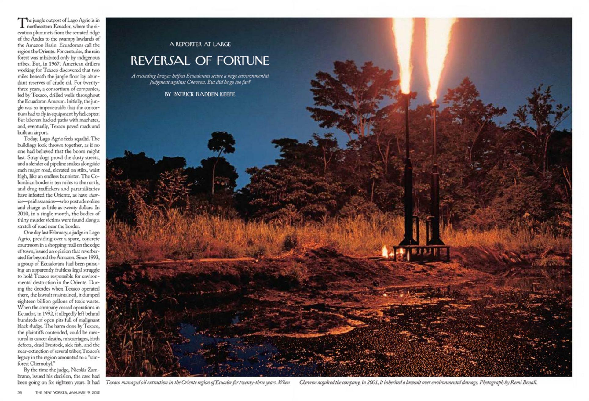 """""""Reversal of Fortune,"""" The New Yorker, January 9, 2012"""