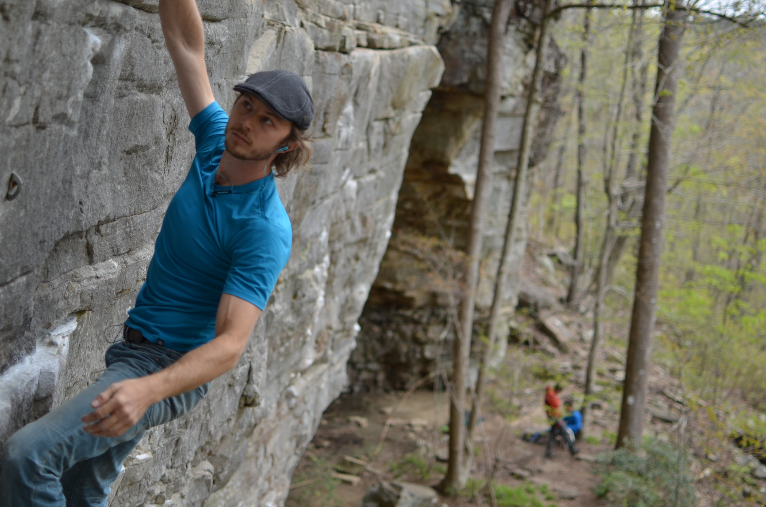 """Another day, another time. Downclimbing an adjacent route after soloing """"The Lion (5.12b)"""""""