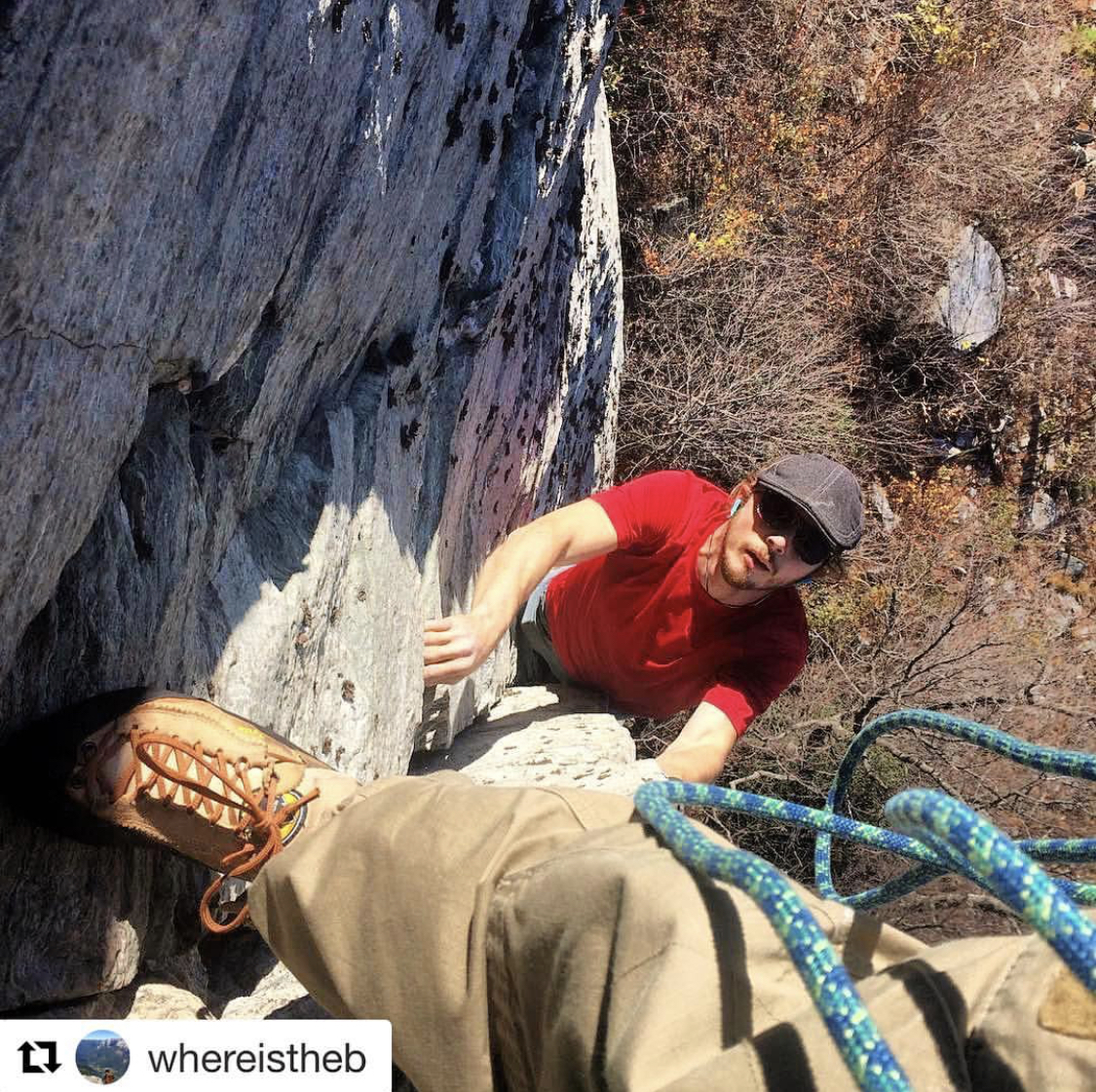 """""""Help Mr. Wizard (5.11a)"""" Mind if I pass? I'll give ya some snickers!!"""