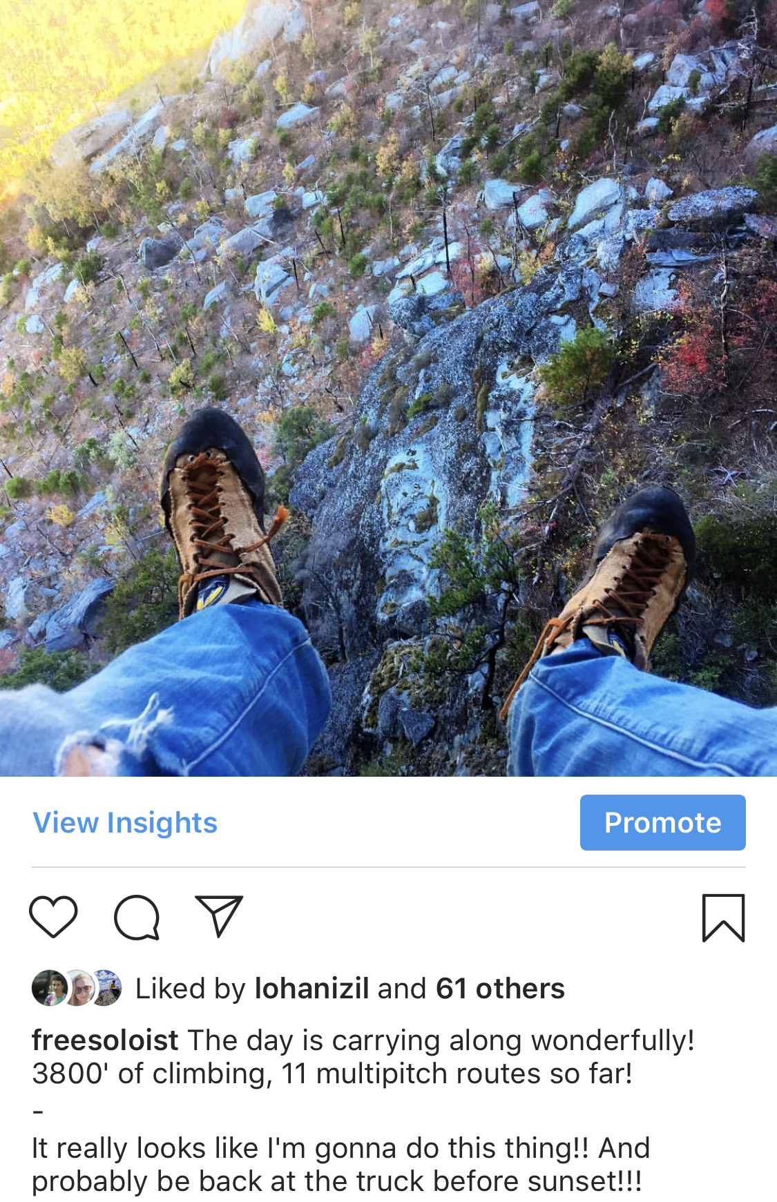 You know the climbing is hard when folks pause to post from Instagram during the crux pitch!