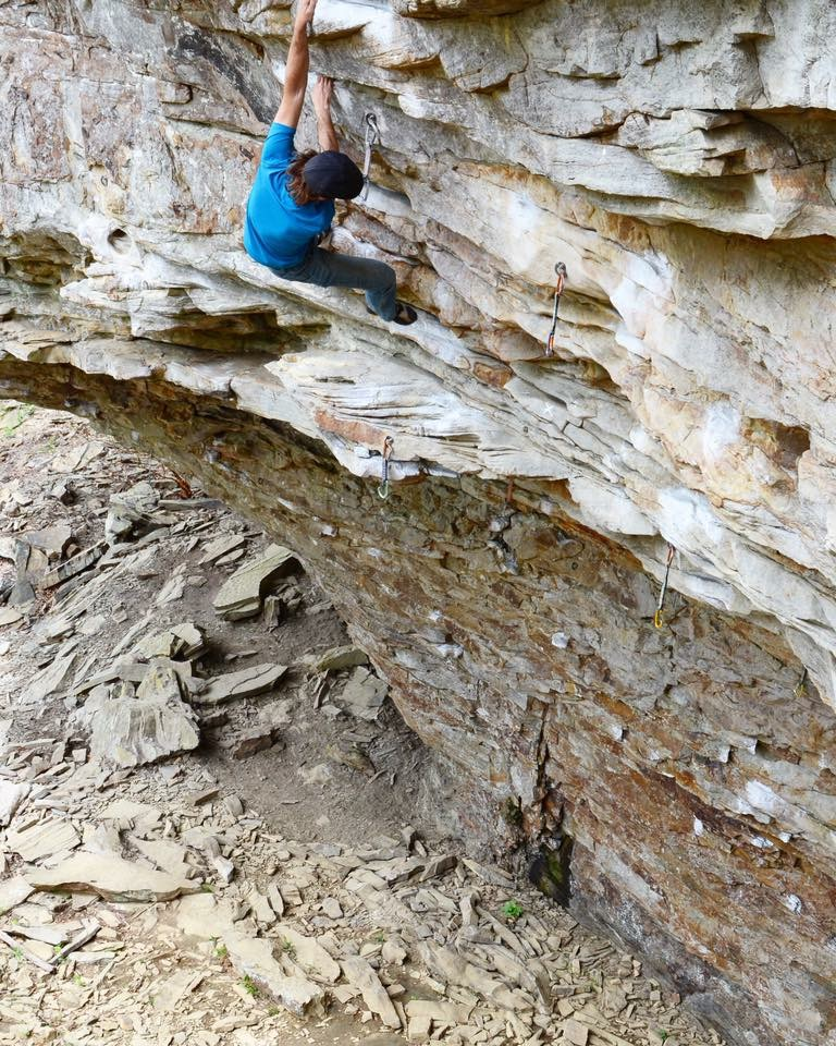 Soloing 5.12 elsewhere in The Canyon