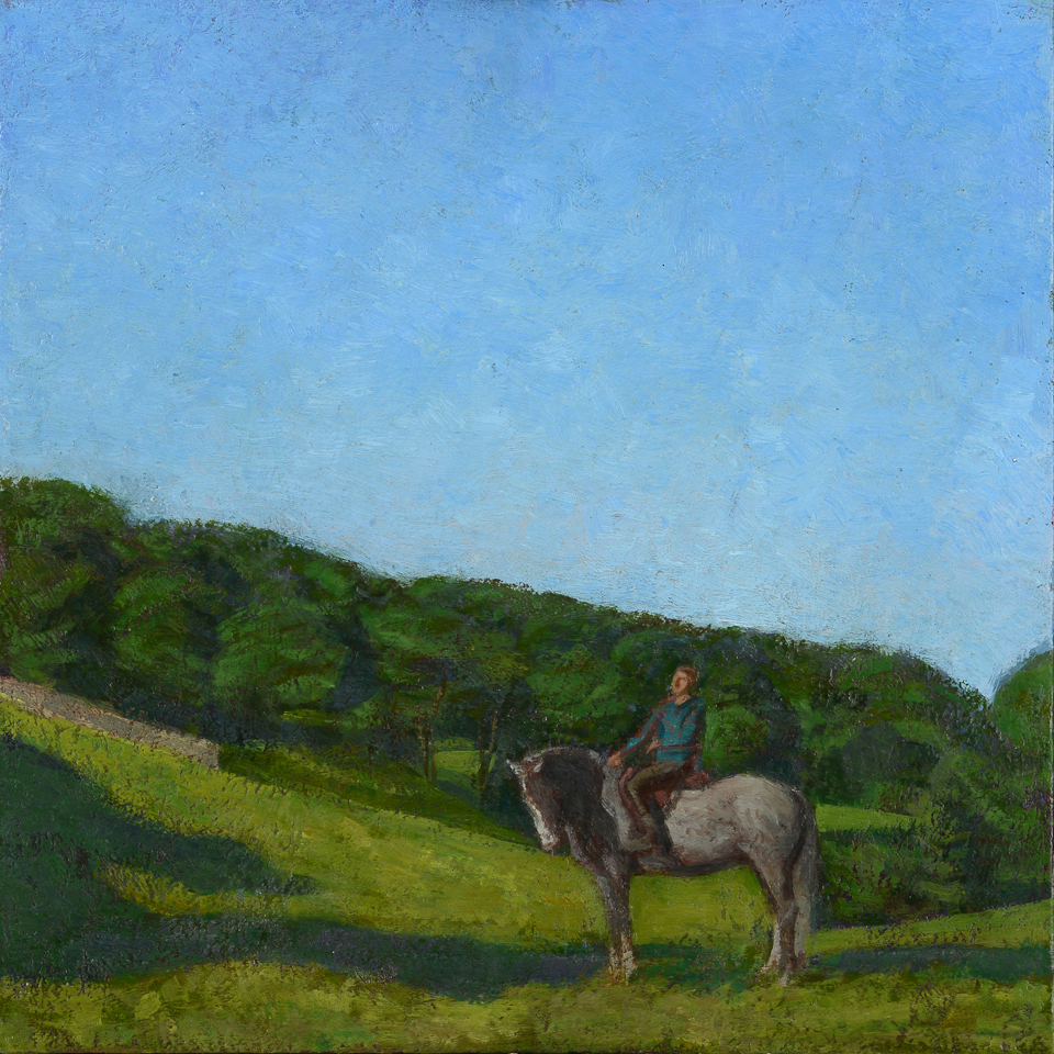 Horse and Rider 12x12 inches