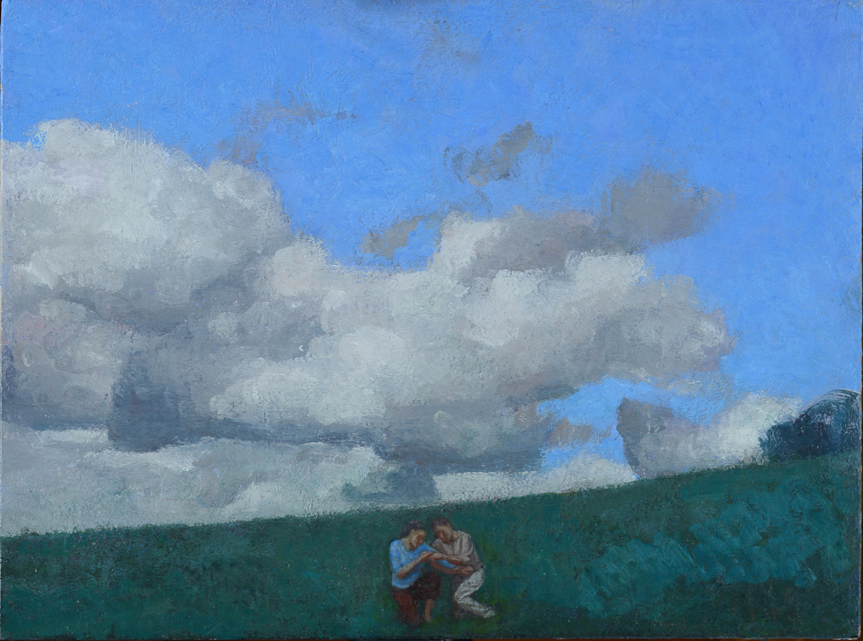 Two Figures on a Hillside