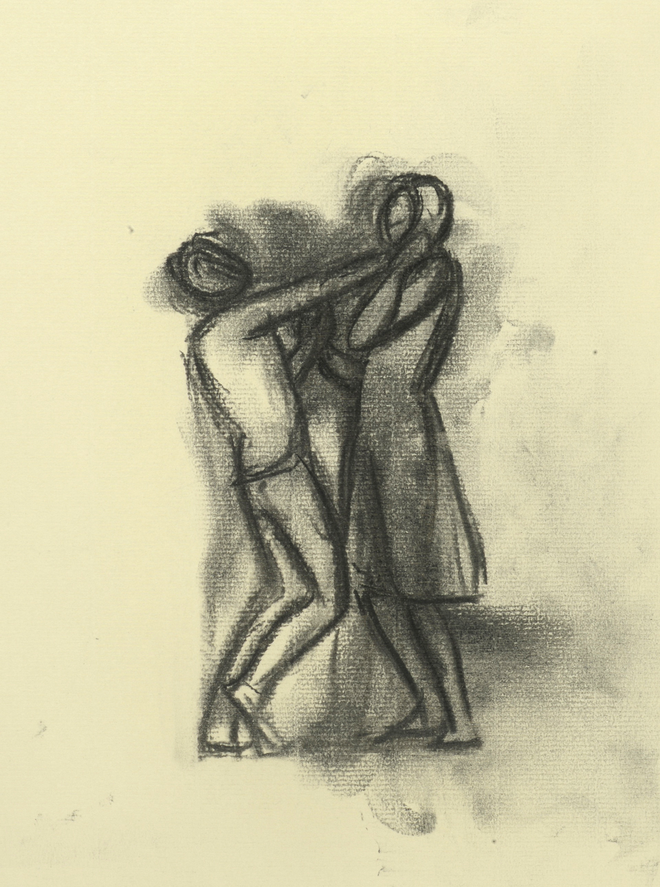 Study for Two Figures in a Landscape