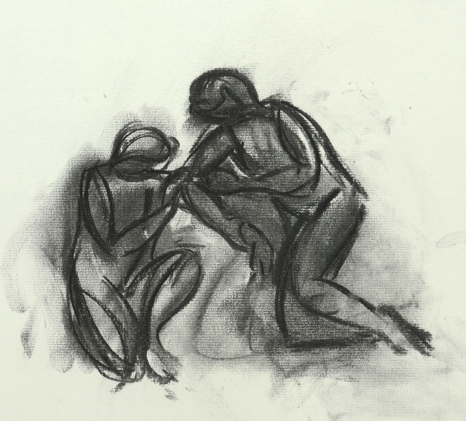 Study for Two Figures on a Hillside