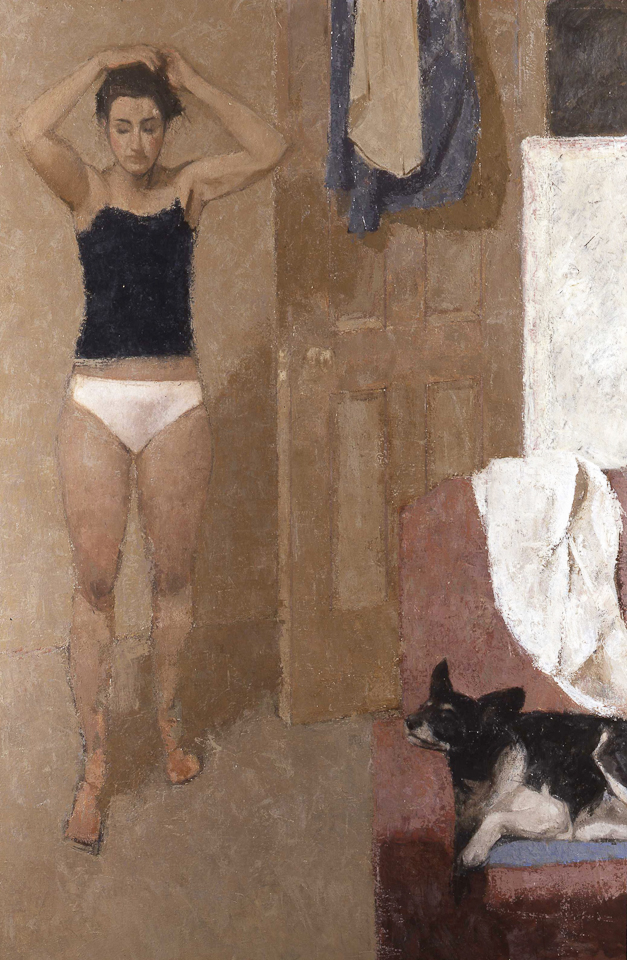 The Dressing Room, Oil on Canvas, 183 x 122cm