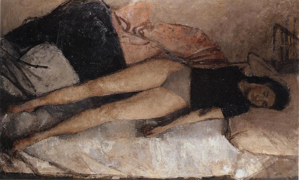 Silent Sleep, Oil on Canvas, 101.5 x 162.5cm