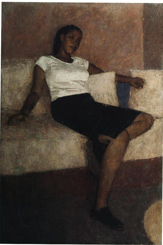 Woman Resting, Oil on Canvas, 91.5 x 61cm