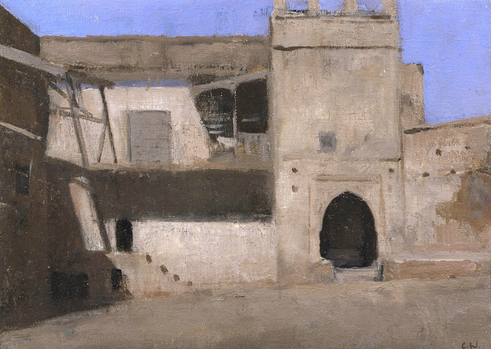 Courtyard, Oil on Canvas, 25.5 x 35.5cm