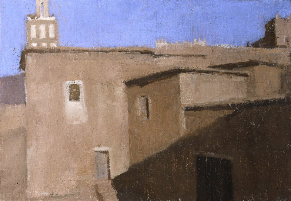 Early Morning, Telouet, Oil on Canvas, 25.5 x 35.5cm