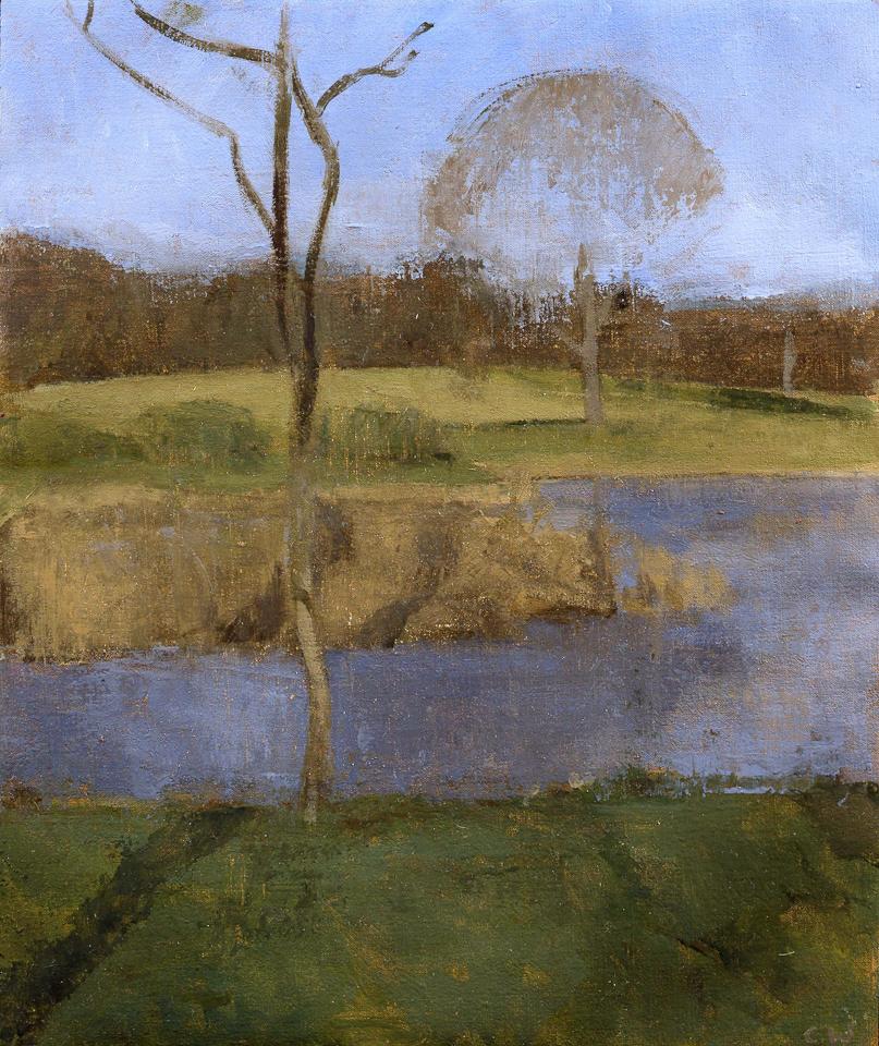 Study, Winter Morning, Oil on Canvas, 25.5cm