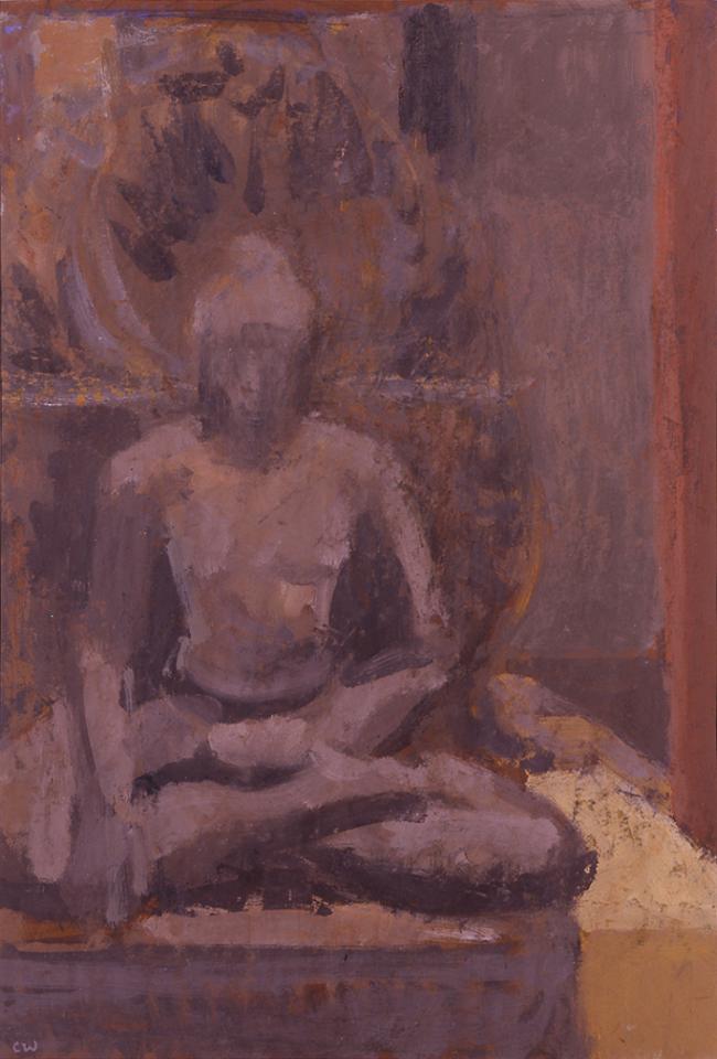 Deity, Casein Tempera on Card, 56 x 38cm