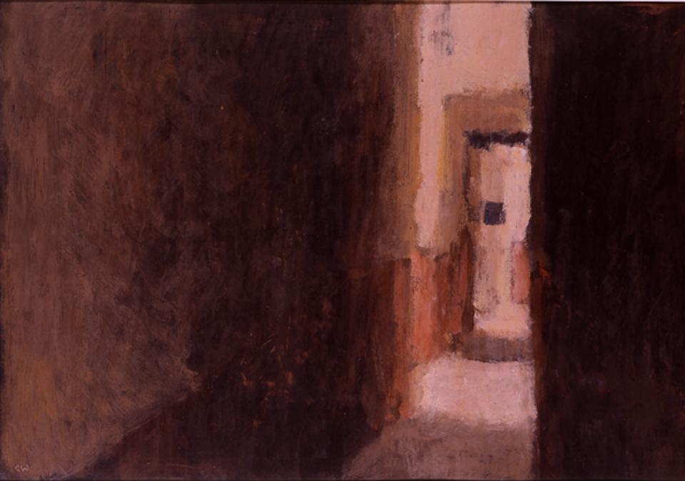Midday Marrakech, Casein Tempera on Card, 38 x 56cm