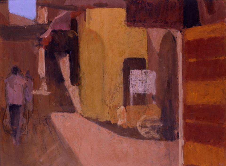 Zokake Amssaffah, Casein Tempera on Card, 38 x 51cm