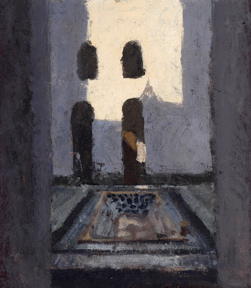 House of Ablutions, Casein Tempera on Card, 46 x 39cm