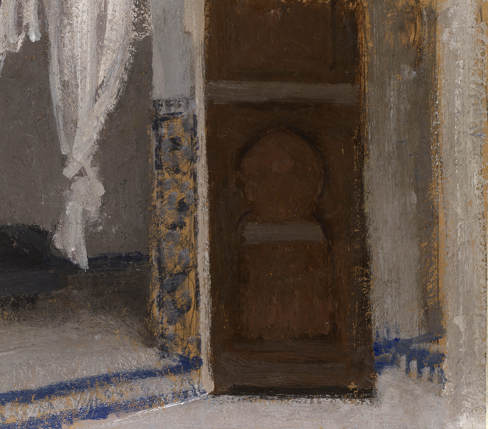 Entrance, Casein Tempera on Card, 25 x 28cm