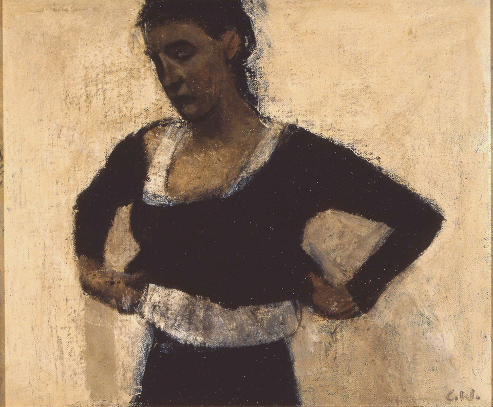Young Woman Dressing, Oil on Canvas