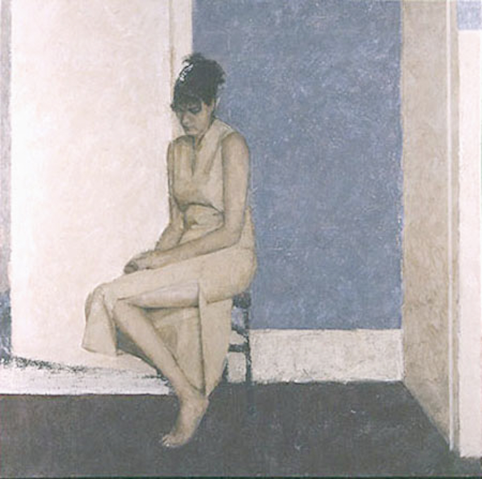 Woman Waiting, Oil on Canvas, 122 x 122cm