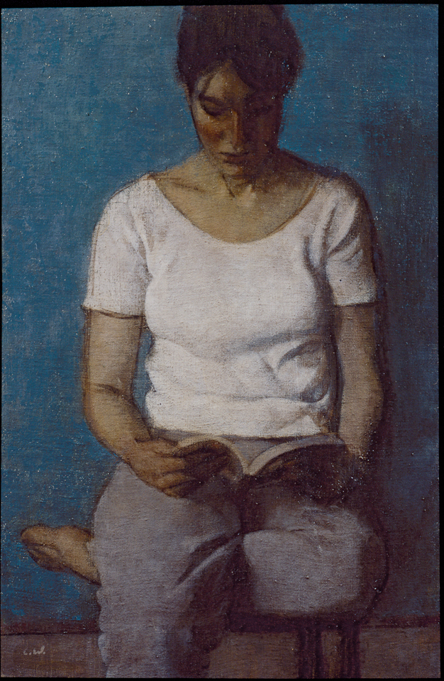 Woman Reading, Oil on Canvas, 61 x 41cm
