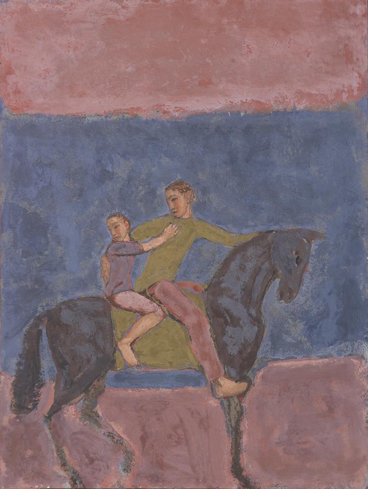 Night Journey, Casein Tempera on Panel, 61 x 46cm