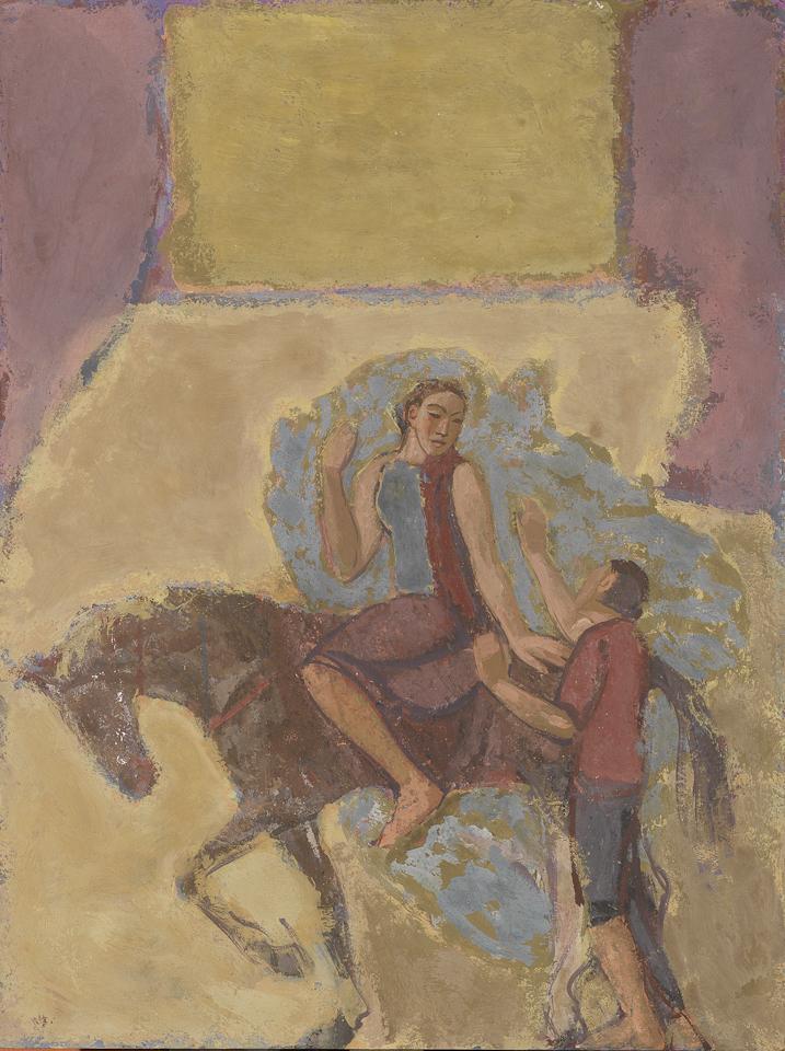 Dawn Journey, Casein Tempera on Panel, 61 x 46cm