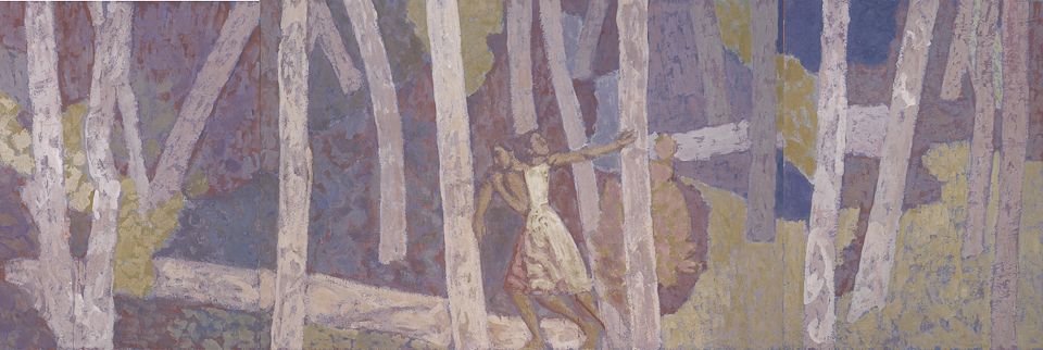 The Forest, Casein Tempera on Panel, 122 x 366cm