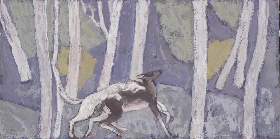 Winter, Casein Tempera on Panel, 30 x 61cm