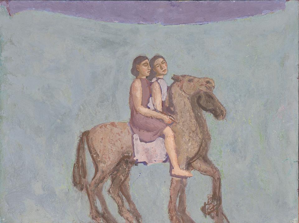 Companions, Casein Tempera on Panel, 46 x 61cm