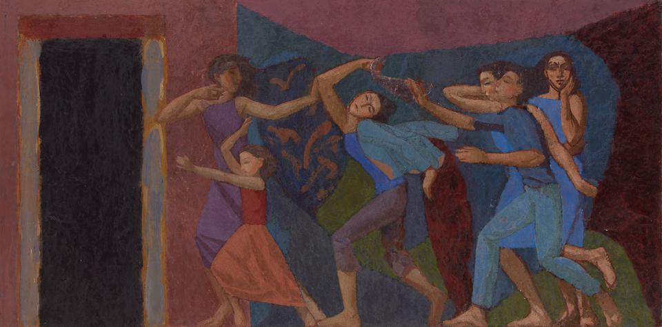 Unquiet Dream, Casein Tempera on Card, 41 x 81cm