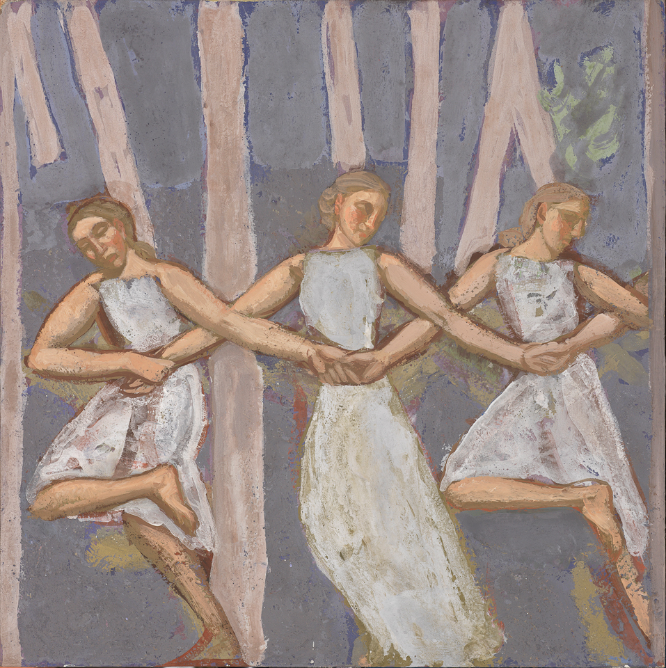 Dance in the Forest, Casein Tempera on Panel, 30 x 30cm