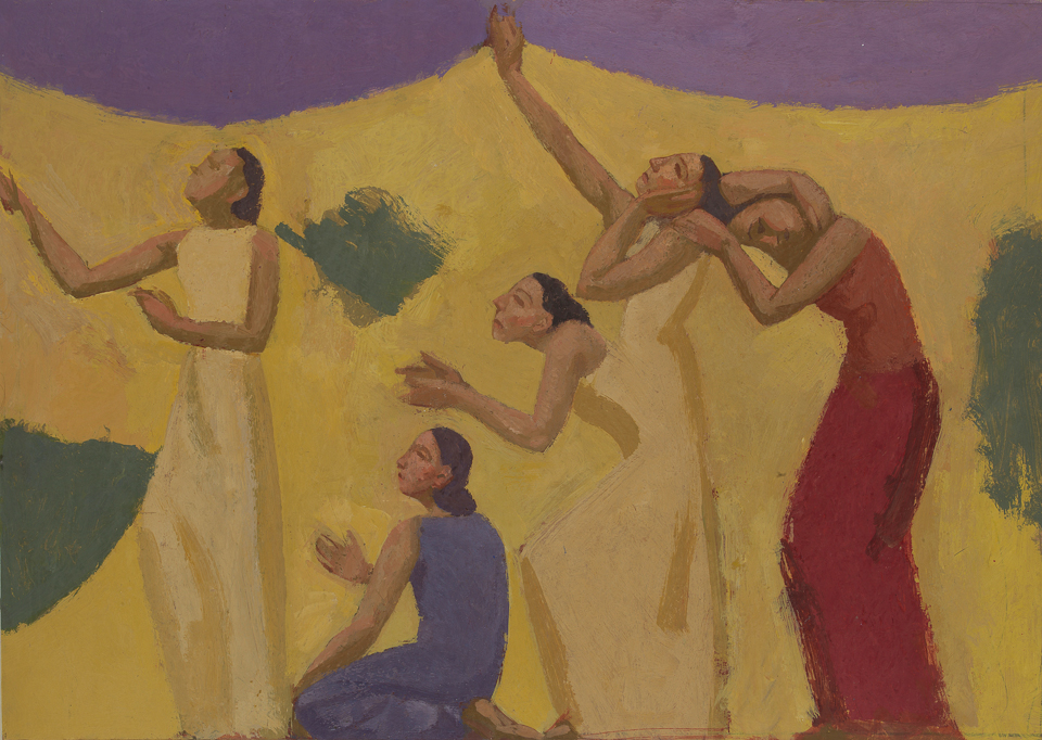 Morning Invocation, Casein Tempera on Card, 39 x 56cm