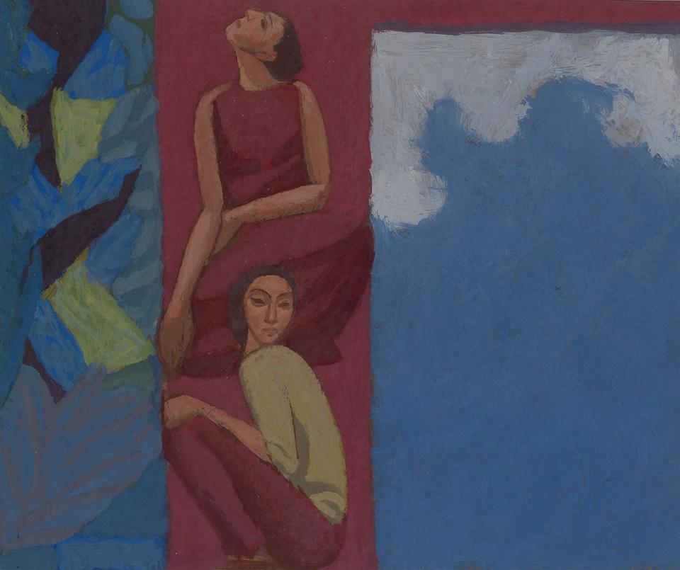The Bright Cloud, Casein Tempera on Card, 25.5 x 30.5cm