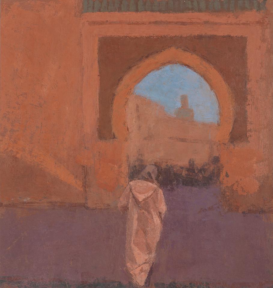 Gateway Marrakech, Casein Tempera on Card, 32 x 30cm