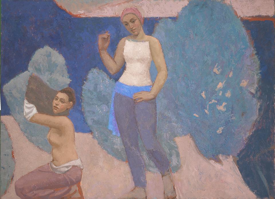 The Channel, Casein Tempera on Canvas, 101.5 x 139.5cm