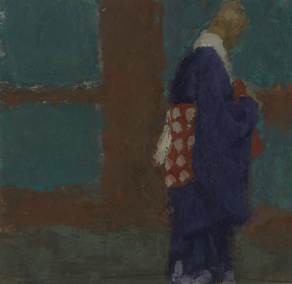 The Abbot, Todaiji, Japan, Casein Tempera on Card, 25.5 x 26.25cm